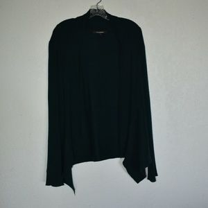 89th and Madison knit cardigan, cascading front, M